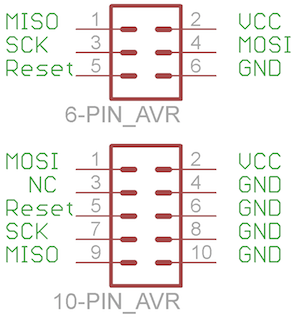 6 and 10 pin headers